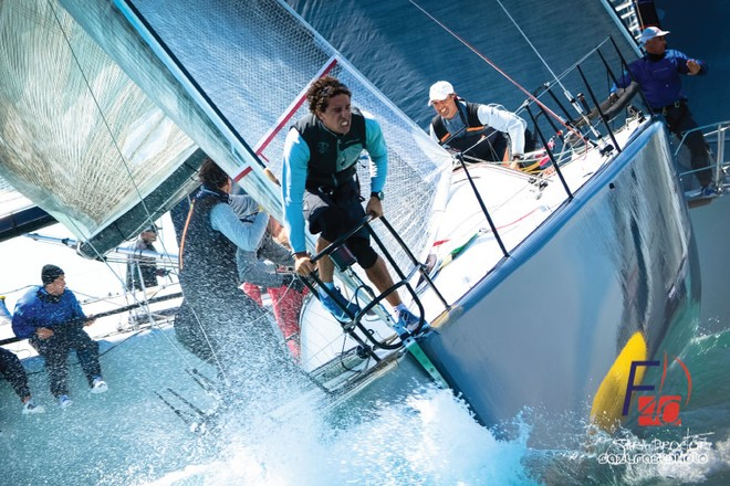 Skipper Wolfgang Schaefer and the Struntje Light team maintained the lead at the Miami Beach Invitational © Sarah Proctor
