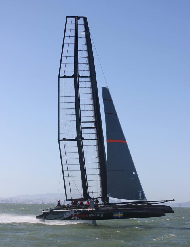 Artemis Racing launches foiling AC45 onto San Francisco Bay © Artemis Racing http://www.artemisracing.com