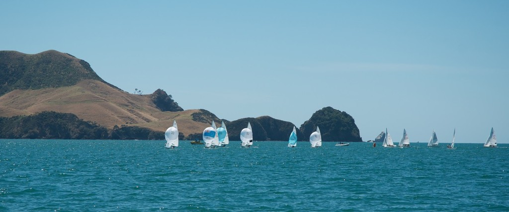 Racing on Day Two of the 470 Nationals in light conditions. - NZ 470 Nationals © Christine Hansen