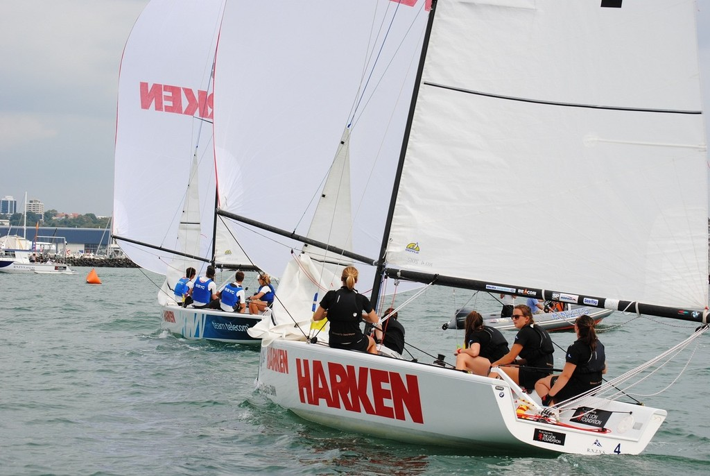 Claudia Pierce KIYC during the HARKEN Youth International Match Racing Championships 2013 © Amber Roberts