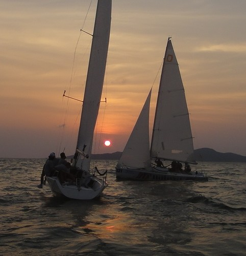 Flight 13.....rather late in the day - Matchrace Thailand Open Nationals, First day © Alex Samaras