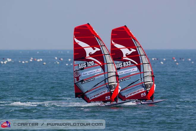 The Aussies are coming - 2013 Ulsan PWA World Cup ©  John Carter / PWA http://www.pwaworldtour.com