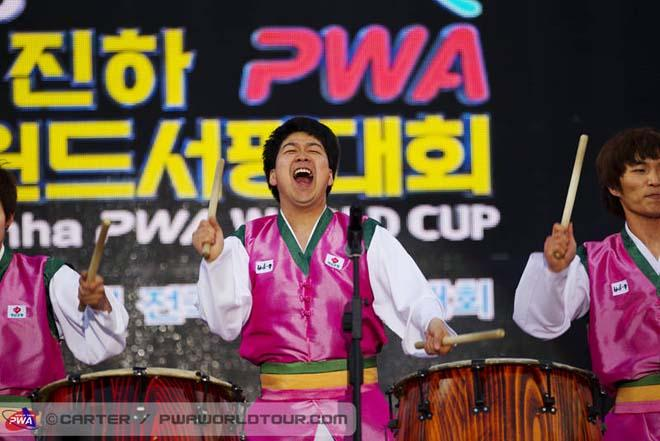 The beat of the drum - 2013 Ulsan PWA World Cup ©  John Carter / PWA http://www.pwaworldtour.com