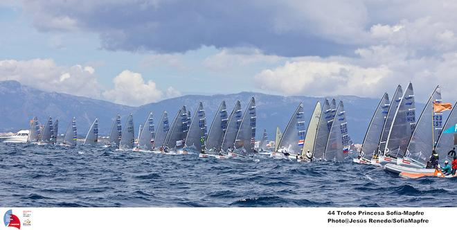 ISAF Sailing World Cup Palma 2013- Finn Class on Day 4  © Robert Deaves/Finn Class http://www.finnclass.org