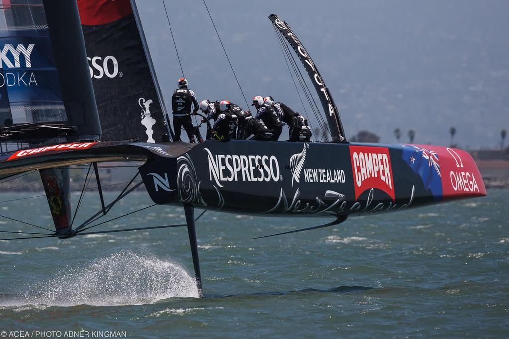 34th America's Cup - Day 1 of racing for the LV Cup, Emirates Team NZ © ACEA / Photo Abner Kingman http://photo.americascup.com