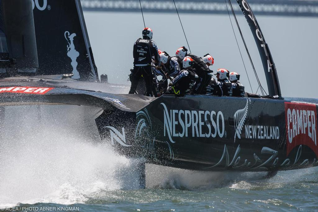 34th America's Cup - Day 1 Emirates Team NZ © ACEA / Photo Abner Kingman http://photo.americascup.com