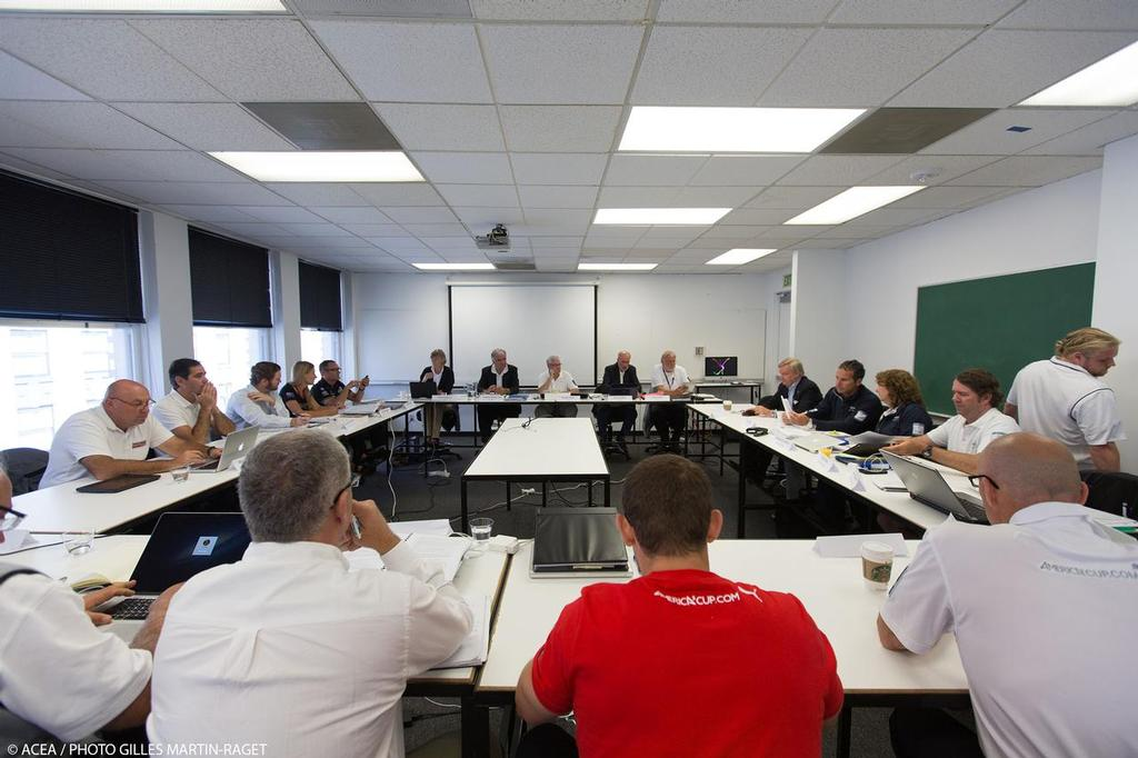 San Francisco (USA,CA) - 34th America's Cup - Jury Meeting, July 8 © ACEA - Photo Gilles Martin-Raget http://photo.americascup.com/