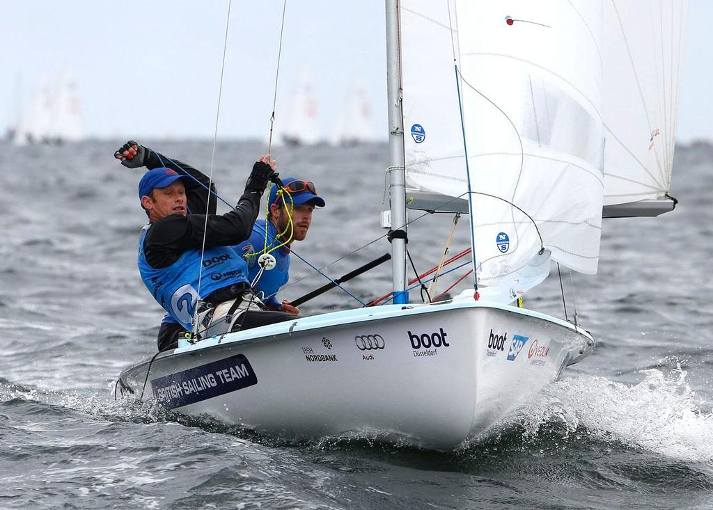 Luke Patience and Joe Glanfield (GBR) - 2013 Kieler Woche © OK Press Kieler Woche