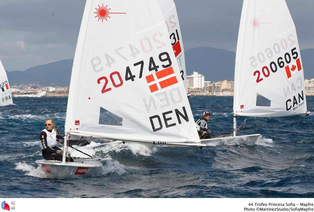 44 Trofeo Princesa Sofia Medal Race,day 6 - Laser Radial; DEN; DEN-204749; 4; Anne-Marie Rindom; Laser Radial; CAN; CAN-200605; 8; Isabella Bertold © MartinezStudio.es
