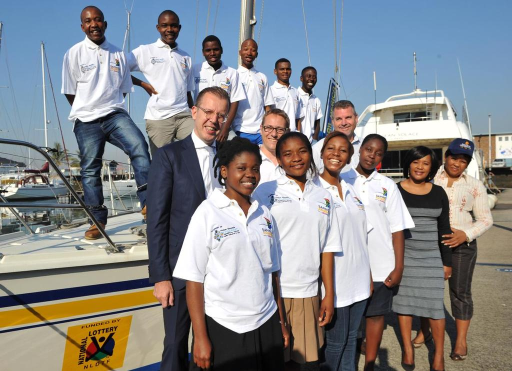 Young South Africans selected to be part of the Clipper Round the World Yacht Race Stages at the Point Yacht Club in Durban, South Africa on the 24th of June 2013 <br /> <br />  &copy; Sabelo Mngoma/BackpagePix