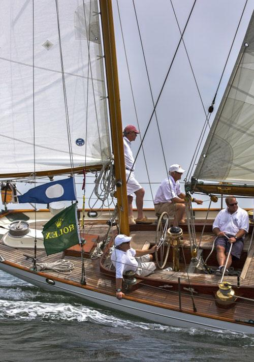 The 68' classic yawl Black Watch last year at NYYC Race Week at Newport presented by Rolex. The boat will be competing in the Classic division this year at Block Island Race Week. ©  Rolex/Daniel Forster http://www.regattanews.com