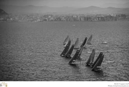The storm rolls in over the RC44 fleet - 2013 RC44 Trapani Cup © RC44 Class/MartinezStudio.es