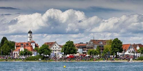 Huge crowds looking at the finals of Match Race Germany 2013 © Brian Carlin