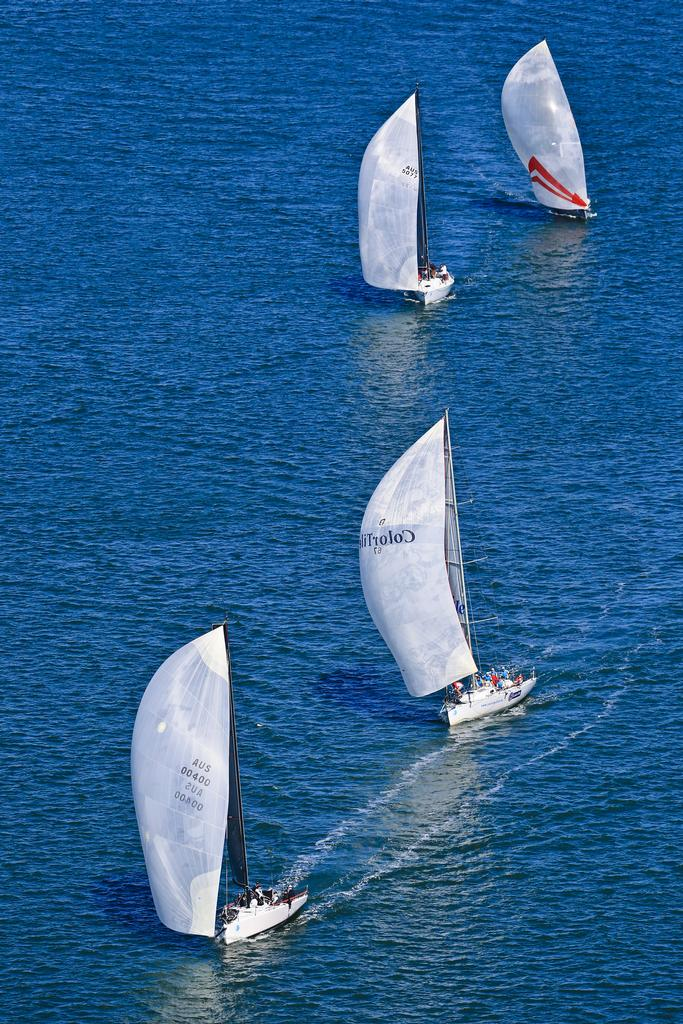 Ichi Ban leading in Performance Racing © Craig Greenhill Saltwater Images - SailPortStephens http://www.saltwaterimages.com.au