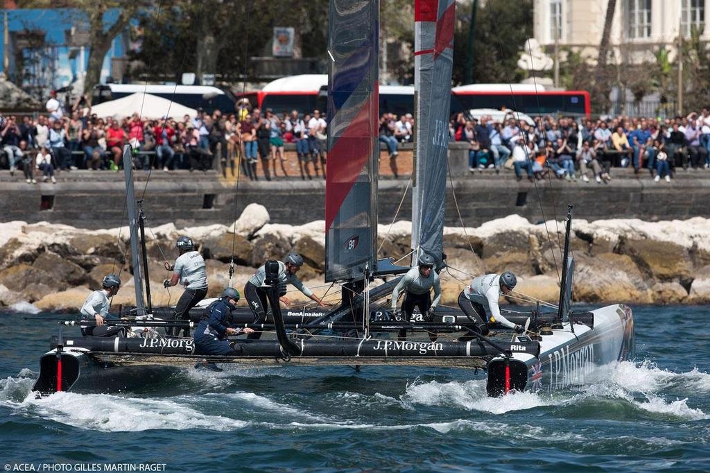 America's Cup World Series Naples 2013 - Race Day One, Team BAR © ACEA - Photo Gilles Martin-Raget http://photo.americascup.com/