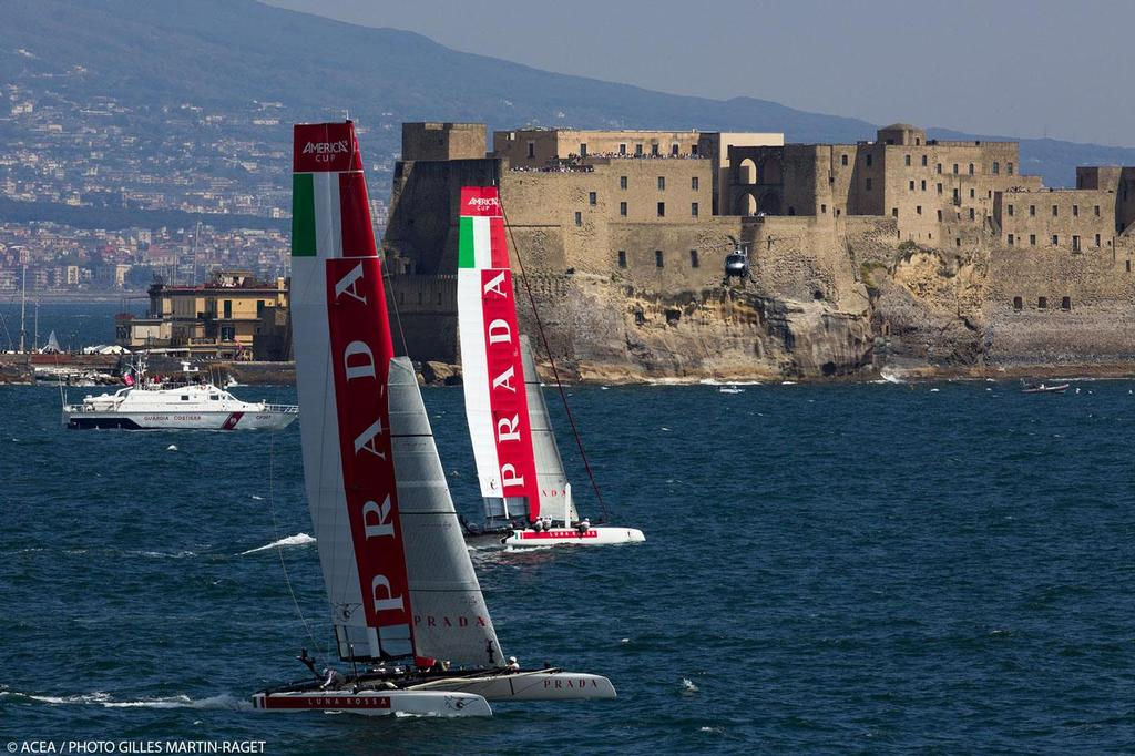 America's Cup World Series Naples 2013 - Race Day 3 Luna Rossa Piranha and Luna Rossa Swordfish © ACEA - Photo Gilles Martin-Raget http://photo.americascup.com/