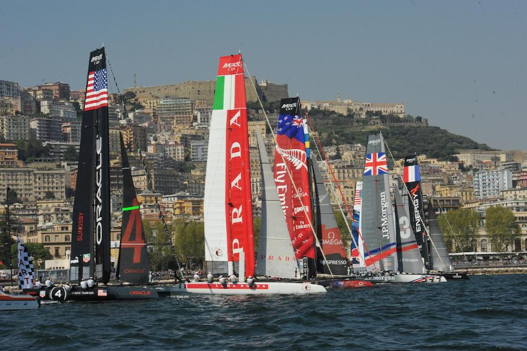 The start of the second Fleet race in Naples Italy April 19, 2013 for the ACWS. ©  SW