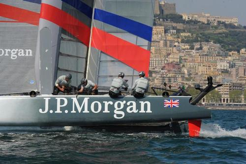 J.P. Morgan Bar works hard and gets 6th in the first Fleet Race of the day at the ACWS in Naples Italy. ©  SW
