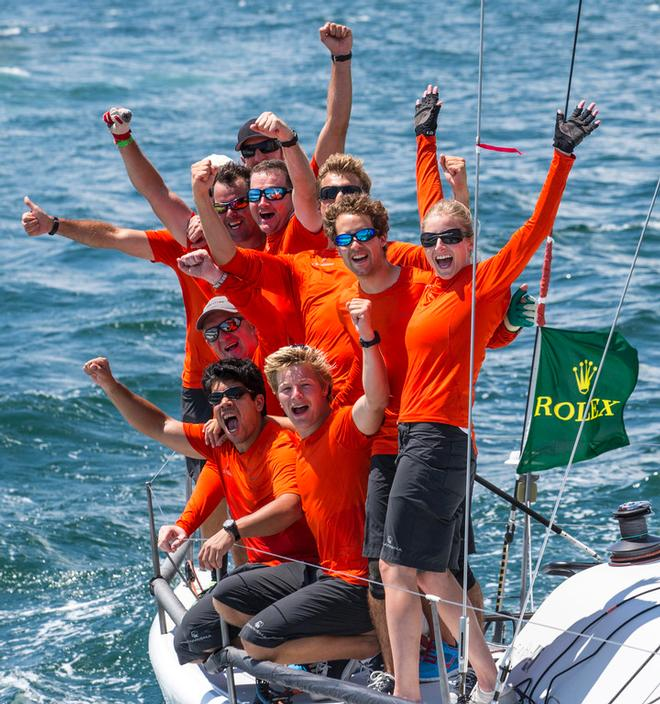 Dutchman Nico Poons and his Charisma team after winning the Rolex Farr 40 North American Championship at the Rolex Farr 40 North American Championship ©  Rolex/Daniel Forster http://www.regattanews.com