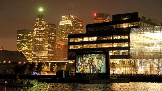 Sail-in Cinema view from the water ©  SW