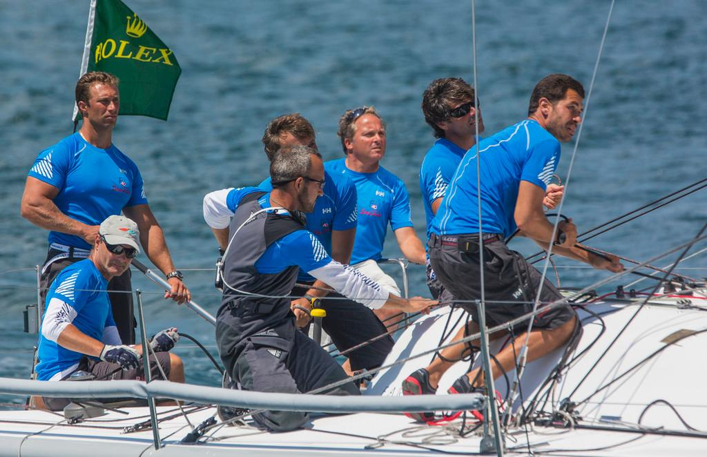 Enfant Terrible finished third overall after winning two races today at the Rolex Farr 40 North American Championship ©  Rolex/Daniel Forster http://www.regattanews.com