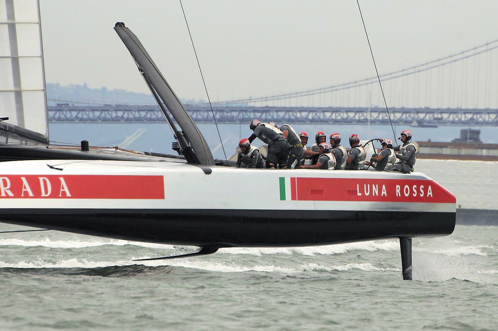 Luna Rossa crew body-language tells all we need to know.  - America's Cup © Chuck Lantz http://www.ChuckLantz.com