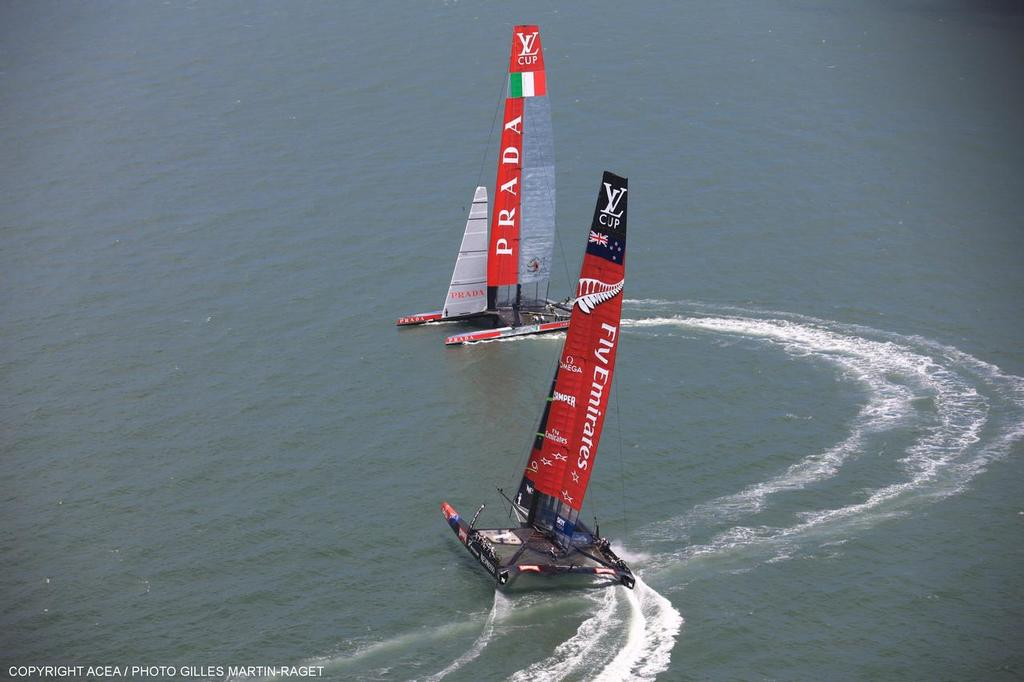 Louis Vuitton Cup, Round Robin, Race Day 4, Luna Rossa vs Emirates Team NZ © ACEA - Photo Gilles Martin-Raget http://photo.americascup.com/