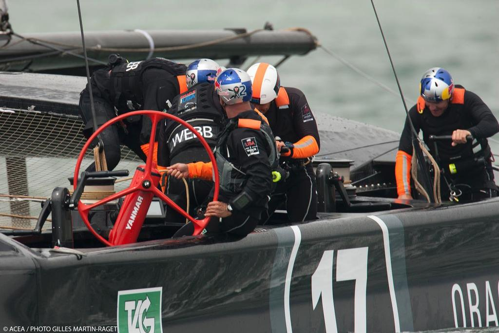 ORACLE Team USA two boat racing © ACEA - Photo Gilles Martin-Raget http://photo.americascup.com/