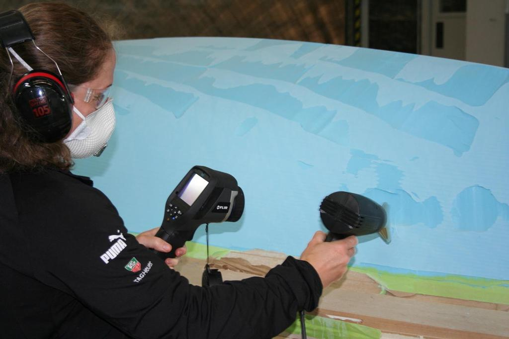 Checking epoxy paste for voids before machining - Mackay Boats © Mackay Boats http://www.mackayboats.com