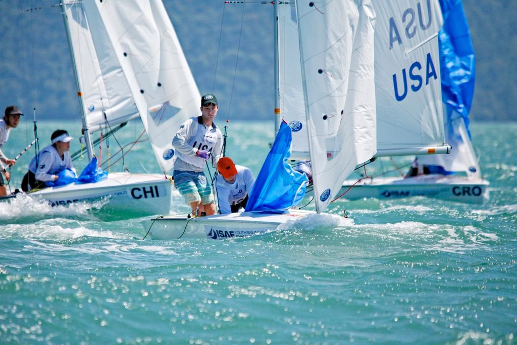 420 Men Fleet,<br /> Day2, 2015 Youth Sailing World Championships,<br /> Langkawi, Malaysia &copy; Christophe Launay