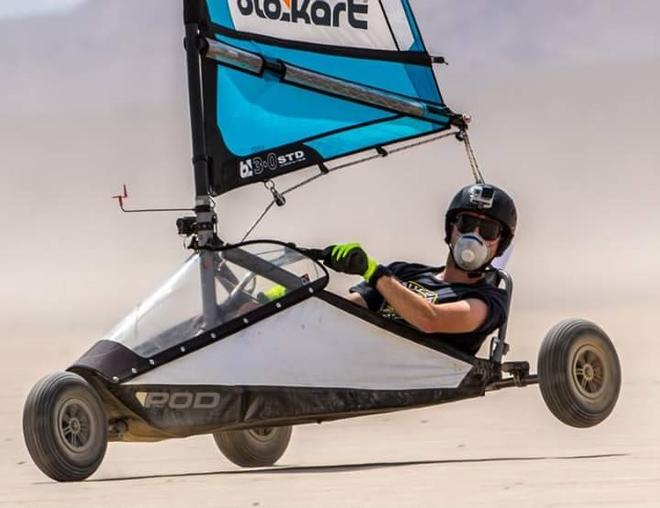 Alex Morris leading the middleweights - Blokart World and North American Championships © Alex Morris