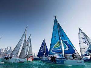 EFG Bank Sailing Arabia The Tour 2016. Dubai. UAE Pictures of the fleet training close to the city today prior to the start of the 2016 race. photo copyright Mark Lloyd http://www.lloyd-images.com taken at  and featuring the  class