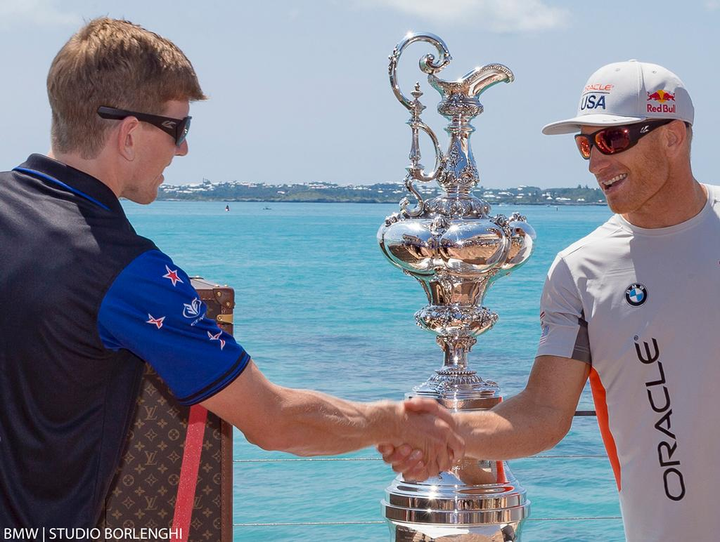 Peter Burling and Jimmy Spithill - 35th America's  Cup ©  BMW | Studio Borlenghi