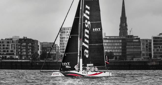 Act 5, Extreme Sailing Series Hamburg – Day 3 – A mixed bag for 2016 champion Alinghi, including two wins and two sixth places, sees it sit in fourth going in to day four. ©  Lloyd Images