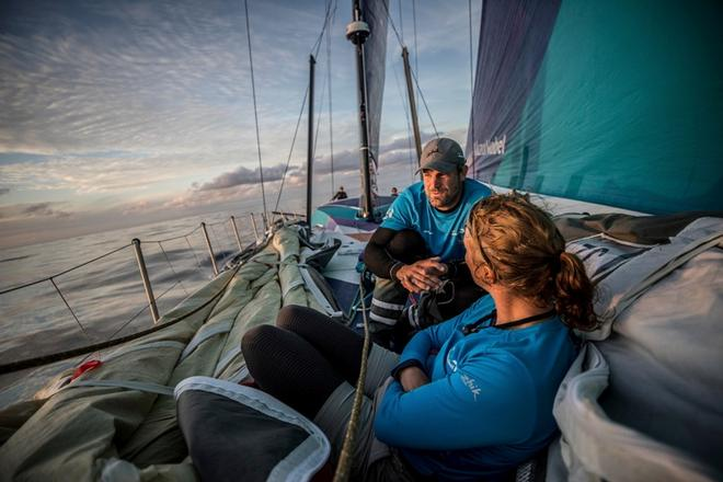 Leg Zero, Saint Malo to Lisbon, on board team AkzoNobel – Volvo Ocean Race ©  Konrad Frost / Volvo Ocean Race