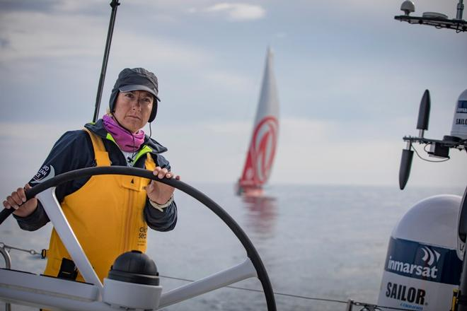 Leg Zero, Saint Malo to Lisbon, on board Turn the Tide on Plastic – Volvo Ocean Race ©  Jeremie Lecaudey / Volvo Ocean Race