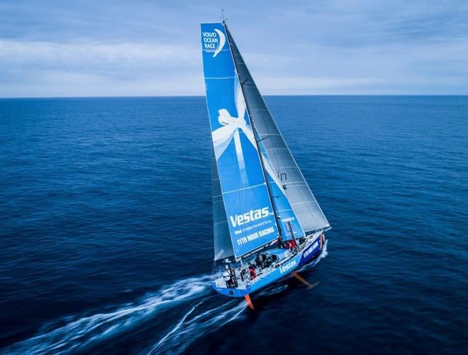 Leg Zero, Saint Malo to Lisbon, on board Vestas 11th Hour Racing – Volvo Ocean Race ©  James Blake / Volvo Ocean Race