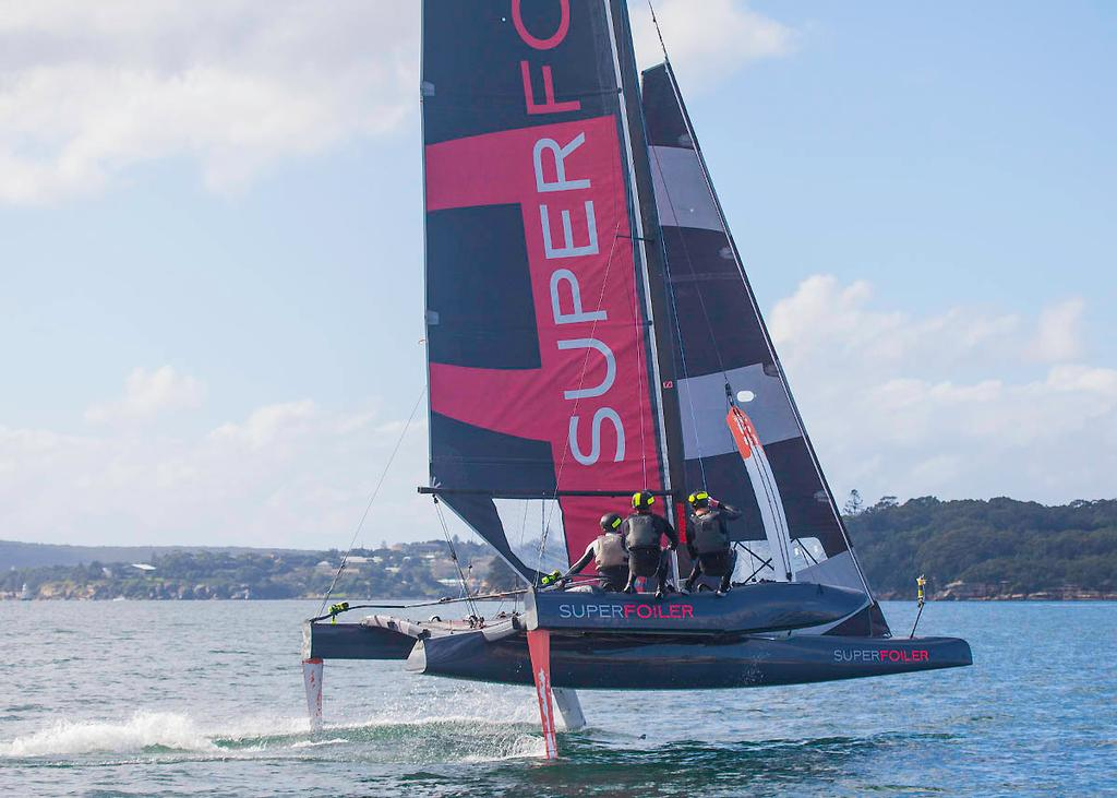 It must been pure adrenalin and fun for the crews! - SuperFoiler ©  John Curnow