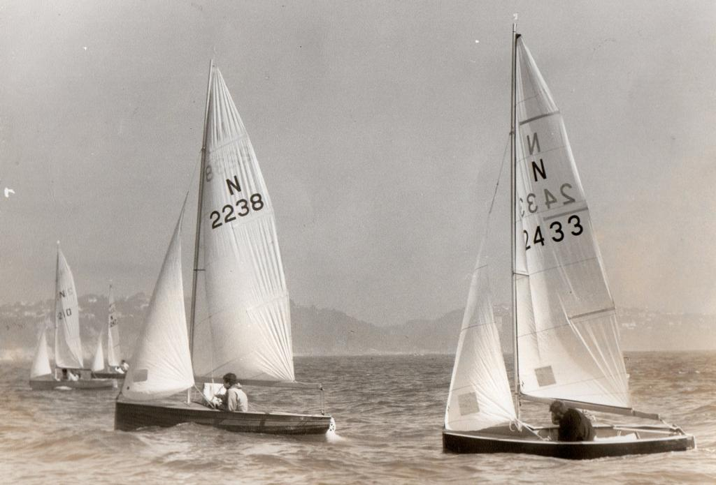 Tom Pearce (2433) during Burton Week at Paignton in 1969 © Sailing Raceboats