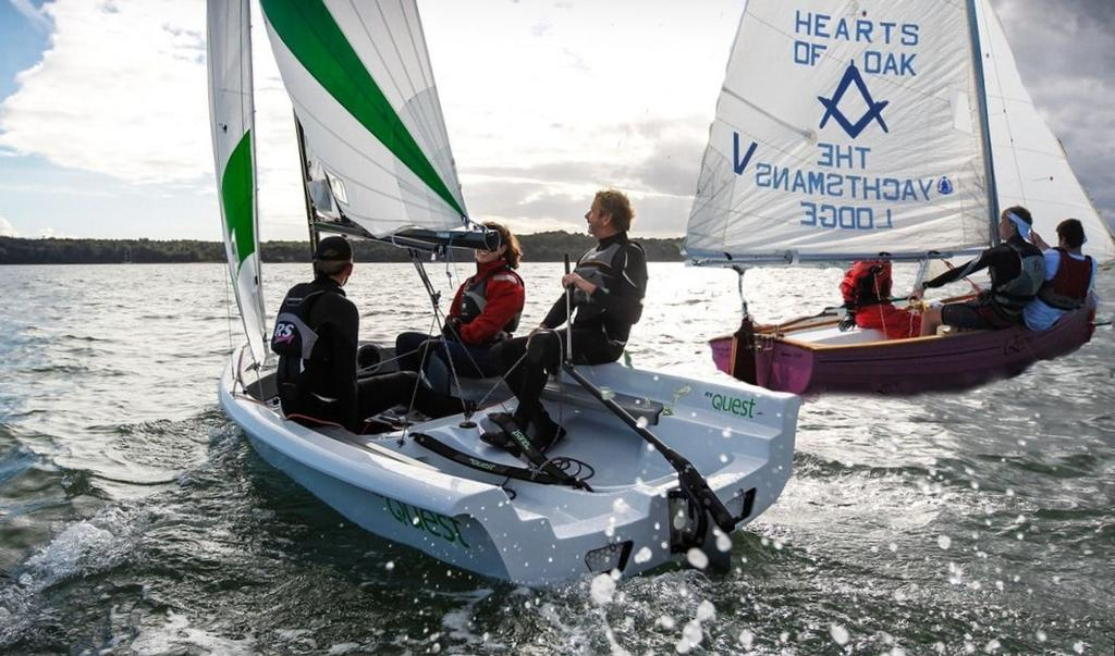 Jo Richards helming the RS Quest © Sailing Raceboats