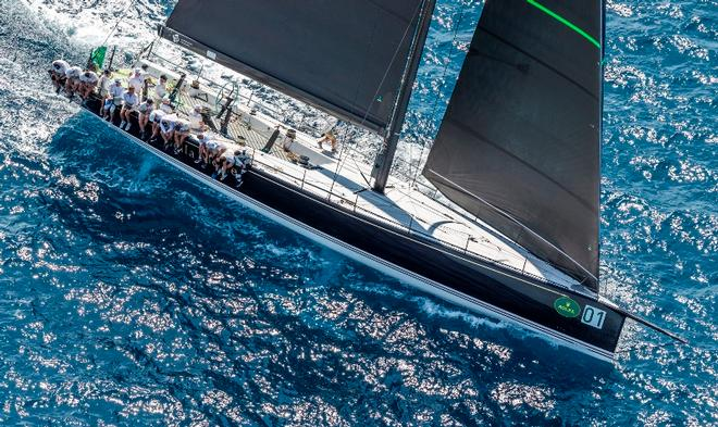 Bella Mente racing at the Rolex Maxi 72 World Championship probably represents the conservative end of the scale for the AC75 concepts. ©  Rolex / Carlo Borlenghi http://www.carloborlenghi.net