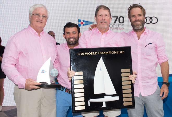 Relative Obscurity (USA) - J/70 World Champion – Peter Duncan, Victor de Leon, Willem Van Waay, Jud Smith – Audi J/70 World Championship ©  Kurt Arrigo / YCCS