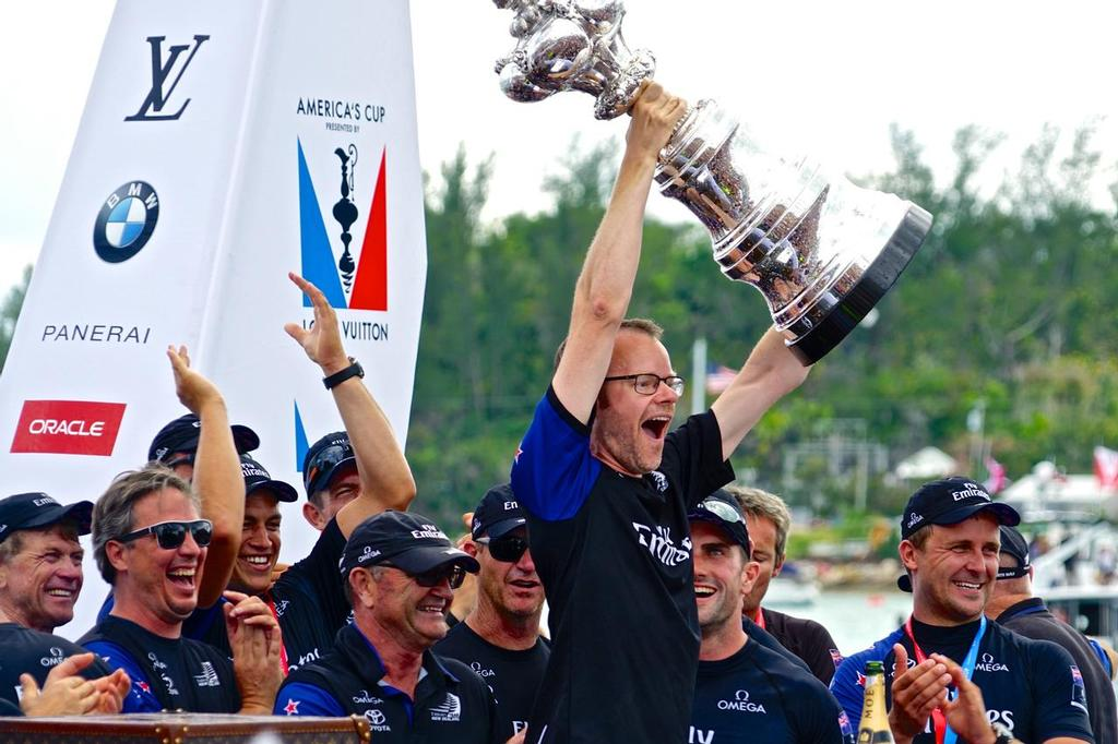 After four America's Cup campaigns, Dan Bernasconi says it feels weird to be writing a class rule rather than pushing against it. © Scott Stallard http://scottstallard.com/