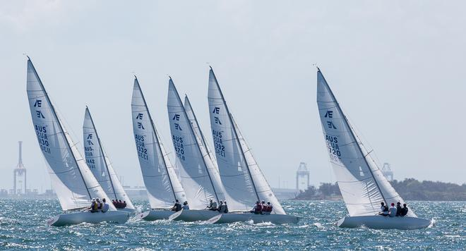Picture perfect last day of racing on Moreton Bay. - 2017 Etchells Queensland State Championship © Kylie Wilson / positiveimage.com.au