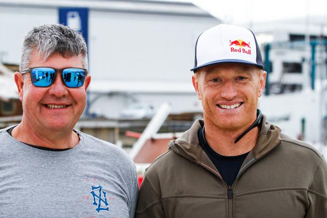 Frank Racing Skipper Simon Hull (left) with crewmate for the Coastal Classic, Jimmy Spithill - PIC Coastal Classic 2017 © Ivor Wilkins