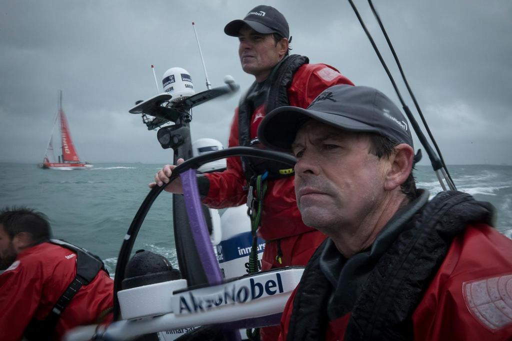Leg Zero, Around the Island Race: on board AkzoNobel. Volvo Ocean Race. 02 August, 2017 ©  James Blake / Volvo Ocean Race