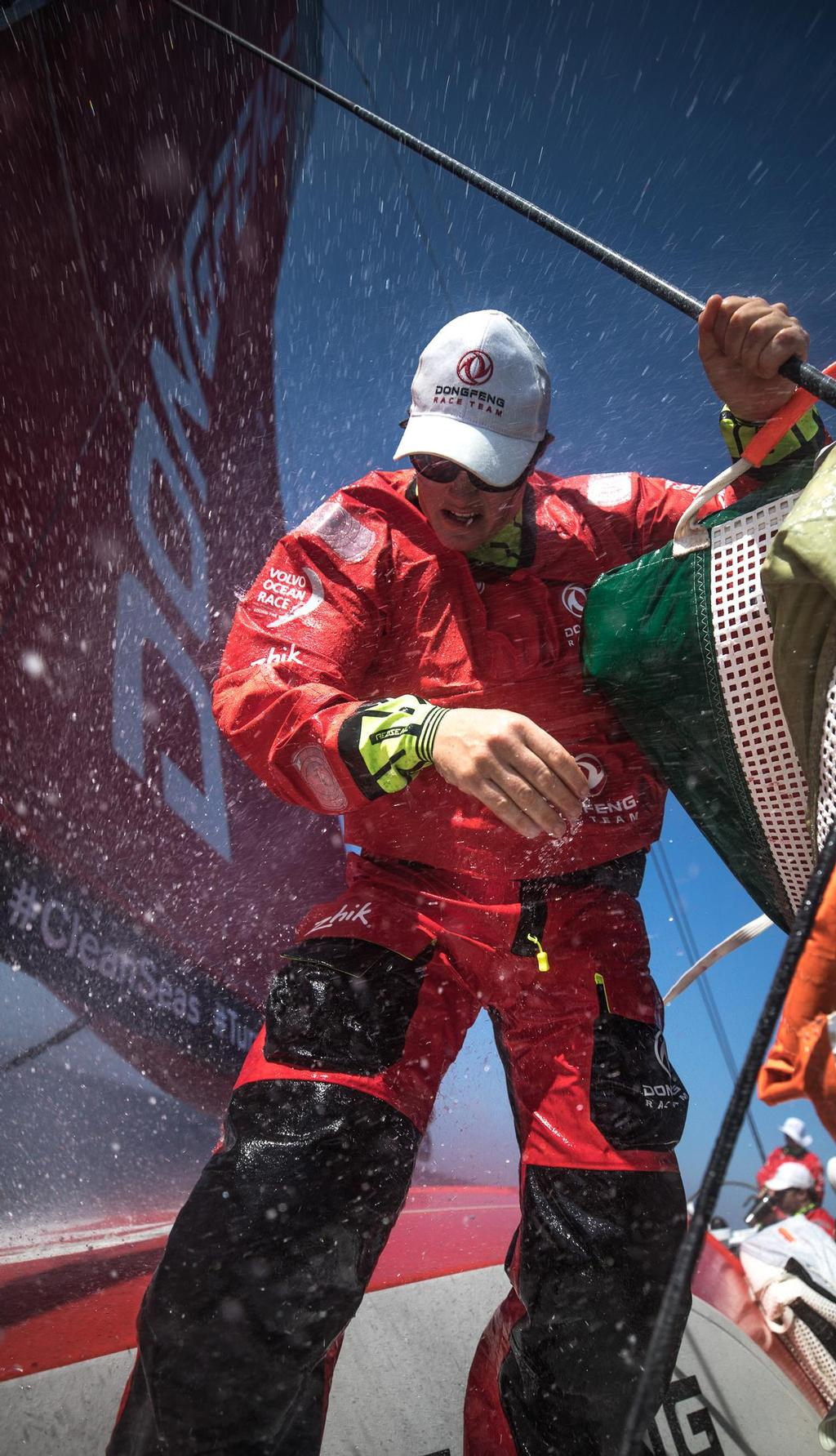 Volvo Ocean Race - Leg Zero, Prologue, Day 03. Passing Gibraltar On-board Dongfeng. Photo by Jeremie Lecaudey.  © Zhik http://www.zhik.com