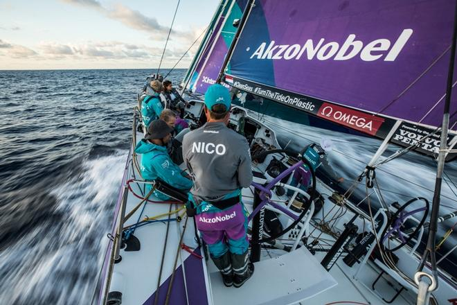 Leg 2, Lisbon to Cape Town, on board AkzoNobel – Volvo Ocean Race ©  James Blake / Volvo Ocean Race