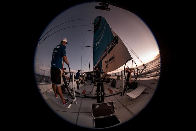 Leg 2, Lisbon to Cape Town, on board Vestas 11th Hour – Volvo Ocean Race ©  Martin Keruzore / Volvo Ocean Race