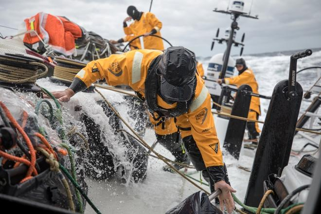 Day 1, Leg 2, Lisbon to Cape Town, on board Turn the Tide on Plastic – Volvo Ocean Race ©  Sam Greenfield / Volvo Ocean Race